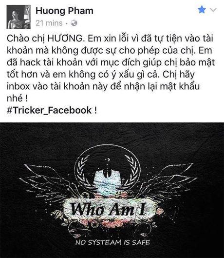 Thuc hu Hoa hau Pham Huong bi hack Facebook - Anh 1