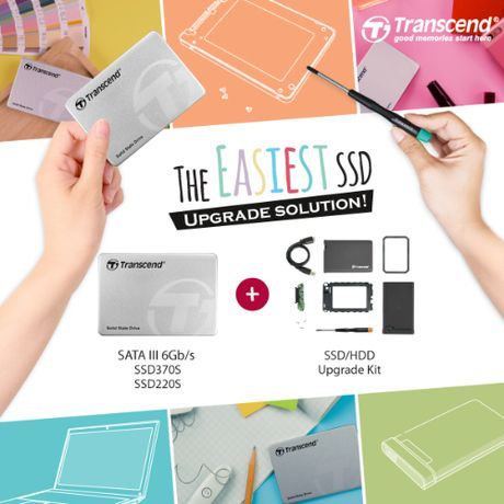 Transcend don gian hoa viec nang cap o luu tru the ran voi SSD+Upgrade Kit - Anh 1
