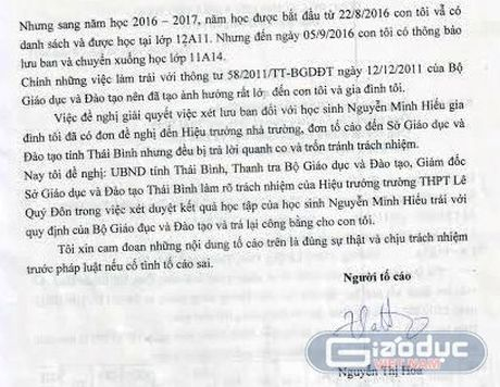 Phu huynh Truong THPT Le Quy Don tiep tuc to con bi 'xu ep' luu ban - Anh 3