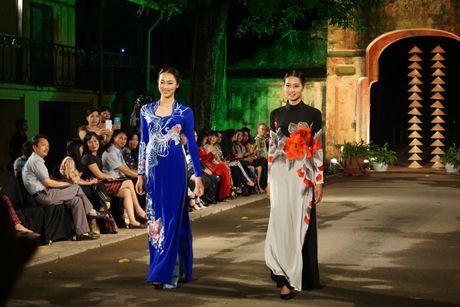 Nguoi dep 'trinh lang' mau ao dai trong Festival Ao dai Ha Noi 2016 - Anh 10