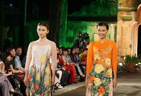 Nguoi dep 'trinh lang' mau ao dai trong Festival Ao dai Ha Noi 2016 - Anh 3