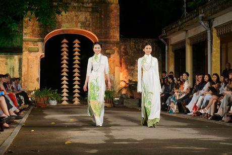 Nguoi dep 'trinh lang' mau ao dai trong Festival Ao dai Ha Noi 2016 - Anh 5