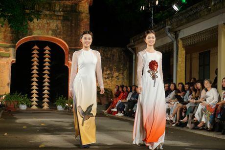 Nguoi dep 'trinh lang' mau ao dai trong Festival Ao dai Ha Noi 2016 - Anh 8