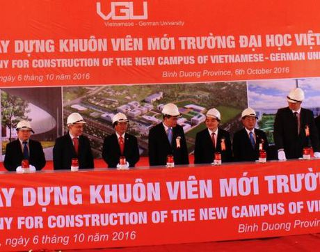 Khoi cong xay dung Truong Dai hoc Viet - Duc - Anh 1