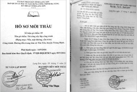 BQL DTXD cong trinh ha tang ky thuat tinh Lang Son: Sua HSMT, gia han dong thau - Anh 1