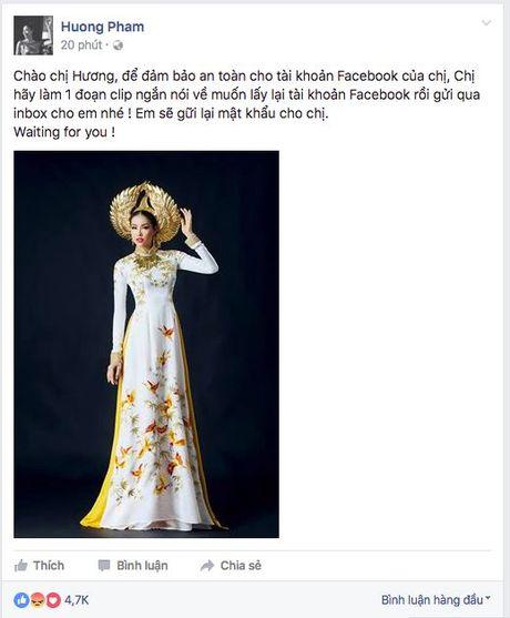 Fan yeu cau Pham Huong quay clip moi tra lai facebook - Anh 3