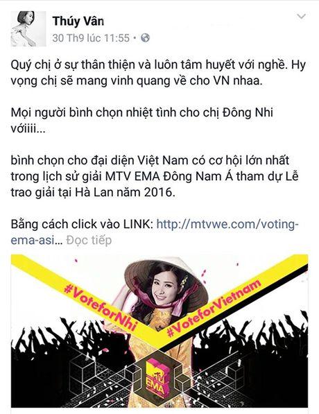 Hang loat sao Viet keu goi ung ho Dong Nhi tai EMA 2016 - Anh 8