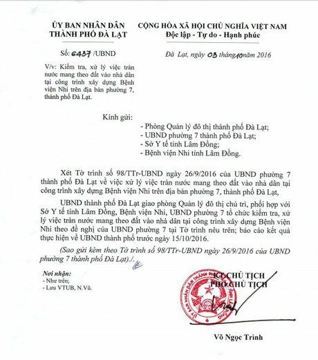 Vu cong trinh cong thoat nuoc cua BV Nhi tinh Lam Dong khien dan buc xuc: Xu ly truoc ngay 15.10 - Anh 1