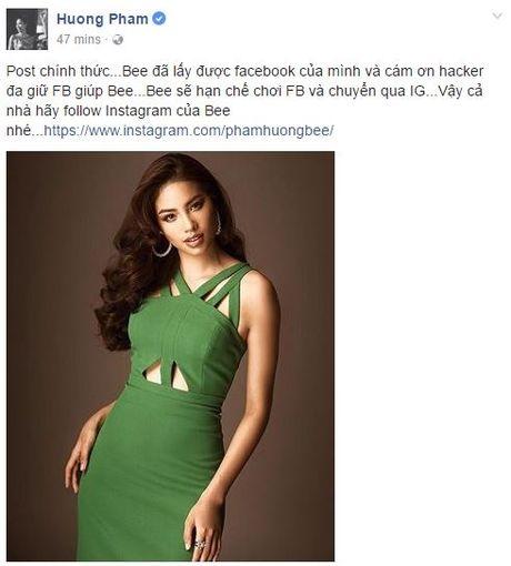 Thay gi tu viec Pham Huong bi hack facebook? - Anh 3