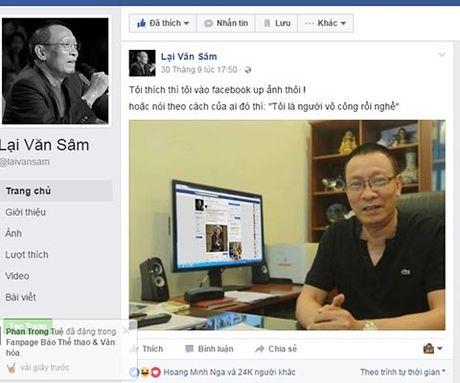 Facebook Lai Van Sam 'nhai', tung anh 'doc', 'da xoay' TS Doan Huong - Anh 3