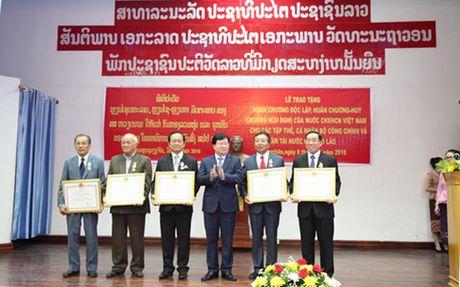 VN trao Huan chuong Doc lap hang Nhat cho Bo Cong chinh va Van tai Lao - Anh 2