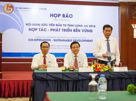 Hoi nghi Xuc tien Dau tu tinh Long An 2016: Hop tac – Phat trien ben vung - Anh 1