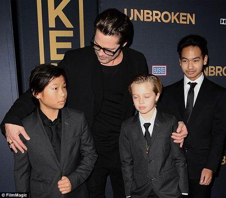 Brad Pitt lan dau gap con sau ly hon - Anh 2