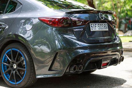 'Than den' Sai Gon do Mazda3 phong cach sieu xe - Anh 4