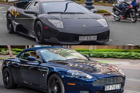 Bo doi sieu xe Aston Martin va Lamborghini tai Sai Gon - Anh 1