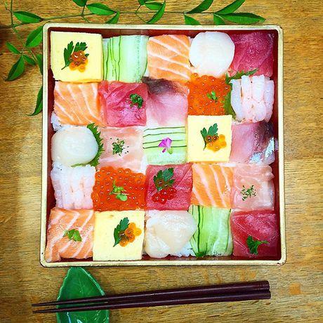 "Thich thu truoc nghe thuat ""lam dep"" cho sushi - Anh 15"