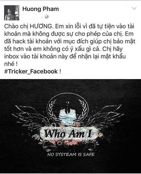 Hoa hau Pham Huong chinh thuc lay lai facebook ca nhan - Anh 2