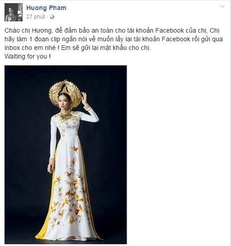 Hoa hau Pham Huong chinh thuc lay lai facebook ca nhan - Anh 3