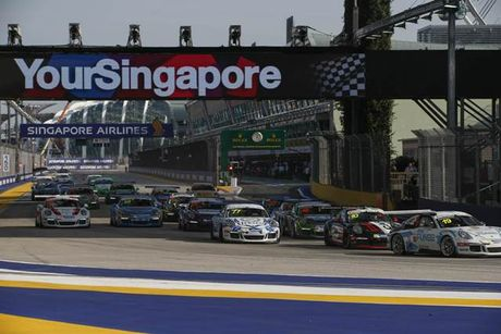 Doi Porsche Holding can dich hoan hao tai Giai Porsche Carrera Cup Asia - Anh 1