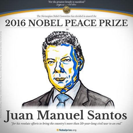 Tong thong Colombia Santos nhan giai Nobel Hoa binh - Anh 1