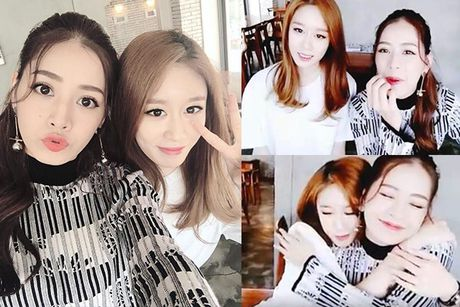 Chi Pu gay bao khi khoe anh selfie do sac voi Jiyeon nhom T-ara - Anh 1