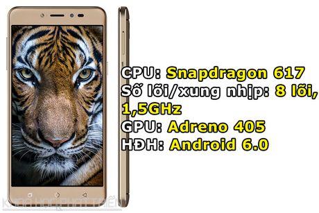 Smartphone selfie, RAM 4 GB, pin 4.010 mAh, gia gan 4 trieu dong - Anh 1