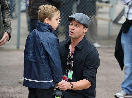 Brad Pitt lan dau duoc gap con sau khi ly di - Anh 1