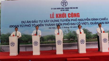 Ha Noi: Dau tu gan 200 ty dong xay dung duong Nguyen Dinh Chieu - Anh 1