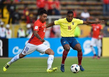 Ecuador 3-0 Chile: Sanchez tit ngoi, duong kim vo dich Copa America thua tham hai - Anh 1