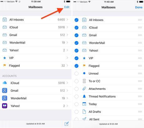 Tang toc do tim kiem email tren iOS 10 - Anh 2
