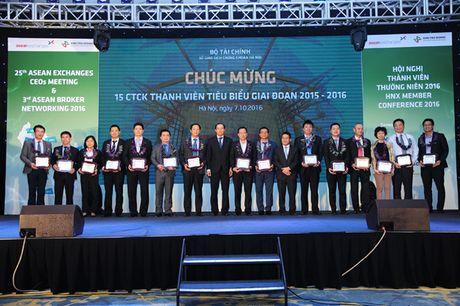 HNX vinh danh 15 cong ty chung khoan tieu bieu - Anh 1