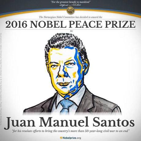 Chang duong chinh phuc giai Nobel Hoa binh cua Tong thong Colombia - Anh 1