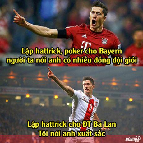 Anh che: LORD Bendtner ban phuoc lanh cho Lewandowski; Chicharito tat vao mat thuong hieu cua FC Thuoc Nhuom - Anh 2