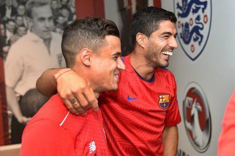 "Barca dung Neymar, Suarez ""du"" Coutinho: Liverpool lo lang - Anh 1"