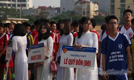Khai mac Giai bong da hoc sinh THPT Ha Noi 2016 - Anh 2