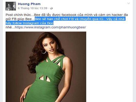 Hoa hau Pham Huong bi lay cap tai khoan facebook: Hacker co pham toi? - Anh 1