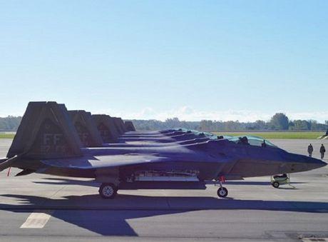 Xem tiem kich tang hinh F-22 cua My di tranh bao Matthew - Anh 2