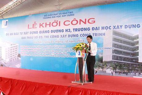 Khoi cong xay dung giang duong H3 Dai hoc Xay dung - Anh 2