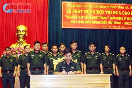 Luc luong Bien phong Ha Tinh phat dong dot thi dua cao diem - Anh 1