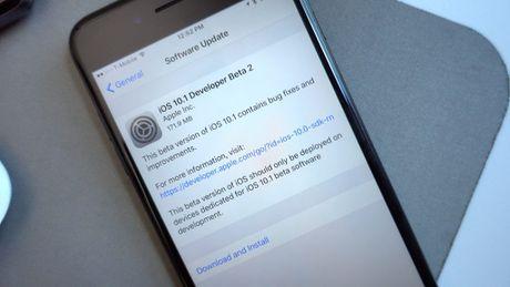 Apple phat hanh rong rai iOS 10.1 beta 2 - Anh 1