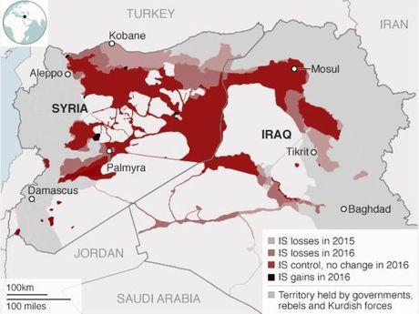 IS mat 1/4 lanh tho o Syria va Iraq - Anh 2