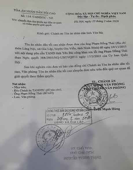 Thong tin tiep vu 'an oan chan dong Ninh Binh': Ong Thai phai khoi kien len cap cao hon - Anh 3