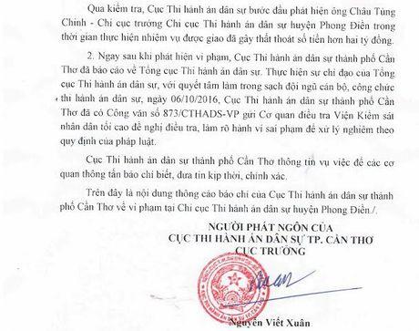 Can Tho: Chi cuc truong lam that thoat 2 ti dong da ra trinh dien - Anh 1