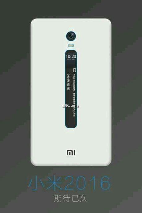 Smartphone Xiaomi voi man hinh e-ink la mat tren lung - Anh 1