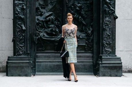 Street Style Paris Fashion Week 2017 - dinh cao cua su don gian - Anh 6