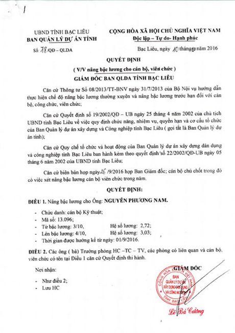 Bac Lieu: Khong con chuc van ky nang luong, tuyen nguoi - Anh 1