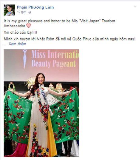 Phuong Linh gianh danh hieu dau tien khi Hoa hau Quoc te 2016 vua bat dau - Anh 1