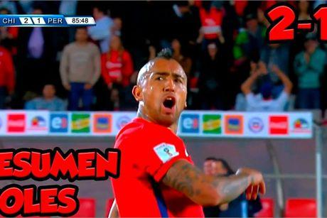 Arturo Vidal lap cu dup giai cuu Chile - Anh 1