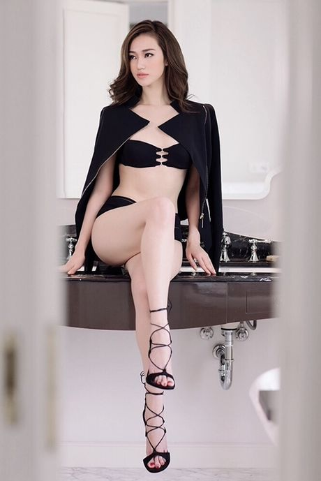 Khanh My nude trong bon tam khoe da trang non - Anh 7