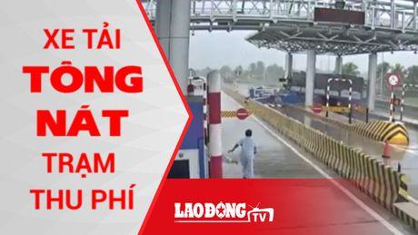 Kinh hoang xe tai tong nat tram thu phi o Khanh Hoa - Anh 1